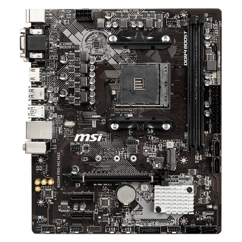 MSI - Motherboard MSI B450M PRO-M2 MAX
