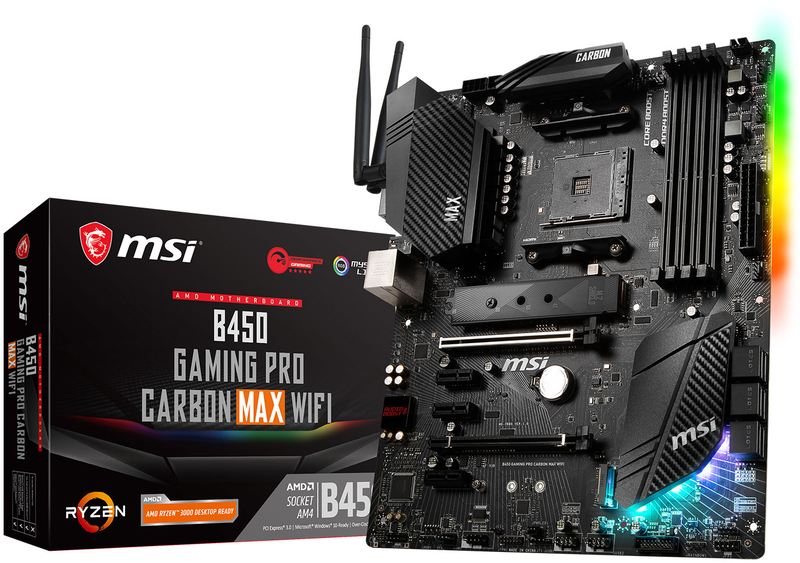 MSI - Motherboard MSI B450 GAMING PRO CARBON MAX WIFI