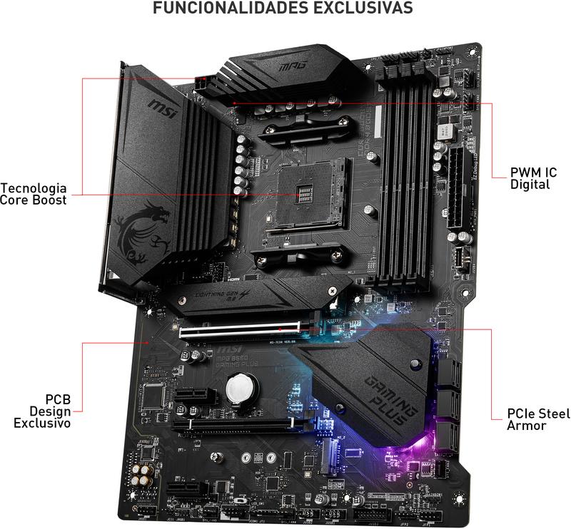 MSI - Motherboard MSI MPG B550 GAMING PLUS