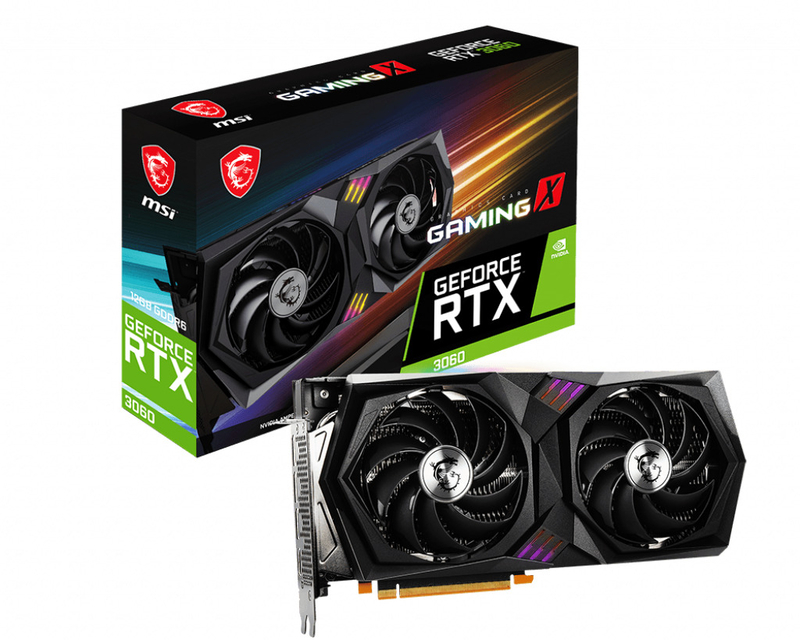 Gráfica MSI GeForce® RTX 3060 GAMING X 12G