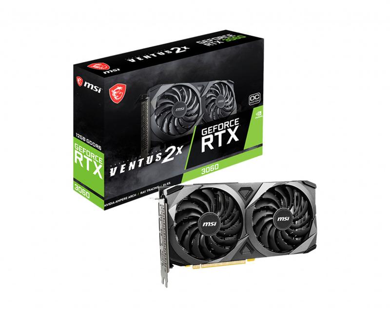 Gráfica MSI GeForce® RTX 3060 VENTUS 2X 12G OC