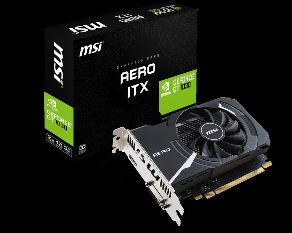 Gráfica MSI GeForce® GT 1030 AERO ITX OC 2G