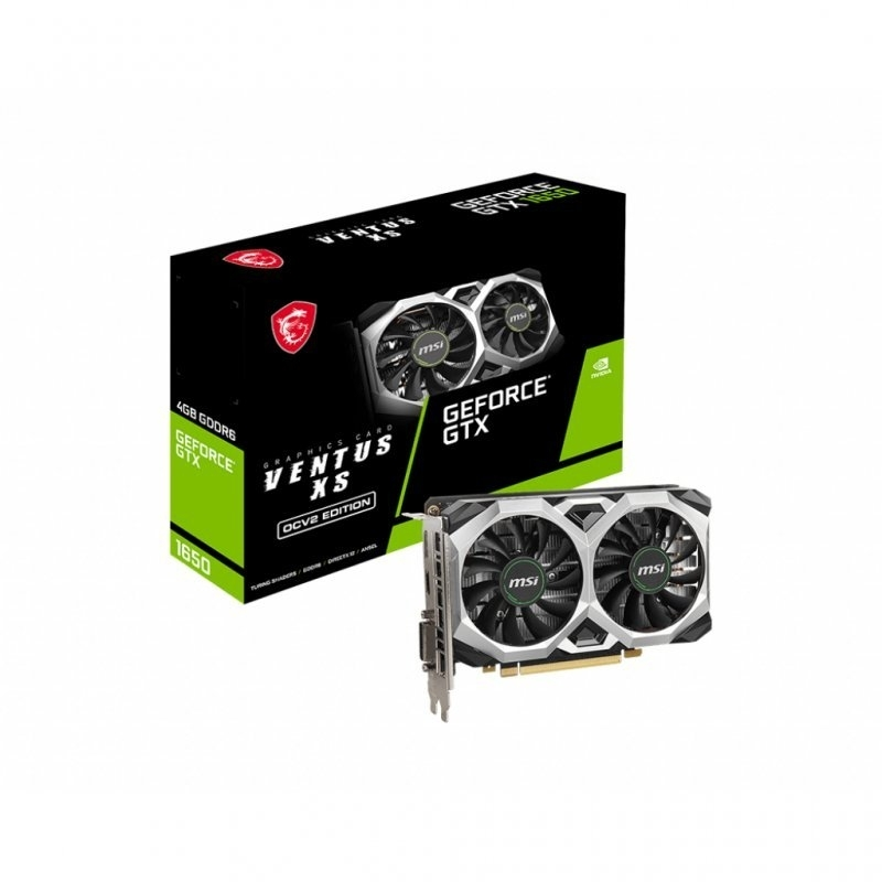Gráfica MSI GeForce® GTX 1650 D6 VENTUS XS OCV2 4G