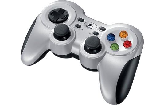 Gamepad Logitech F710 Prateado