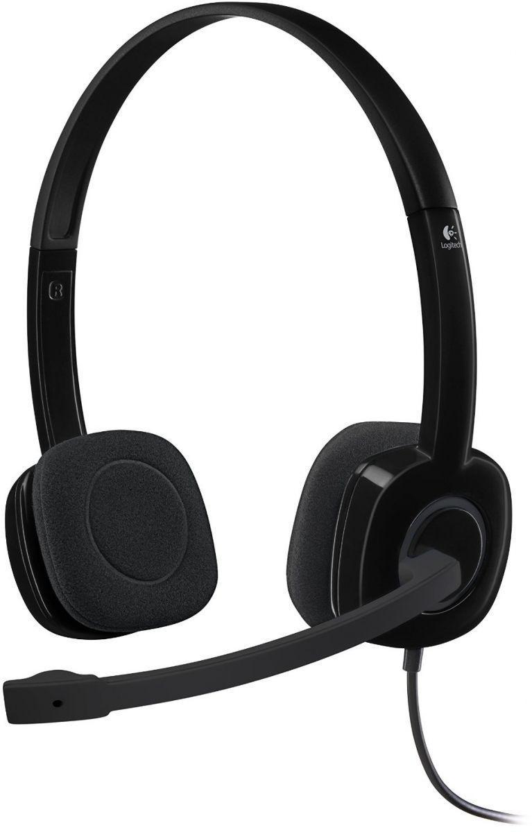 Logitech - Auscultadores Logitech H151 Stereo Preto