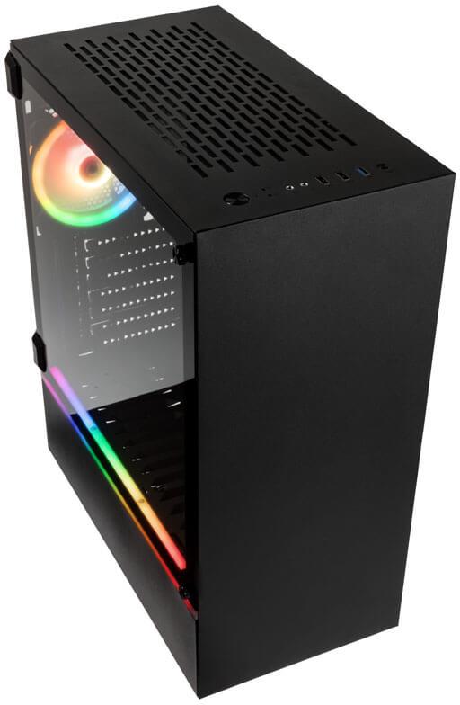Kolink - Caixa ATX Kolink Bastion Preta RGB Preto Vidro Temperado