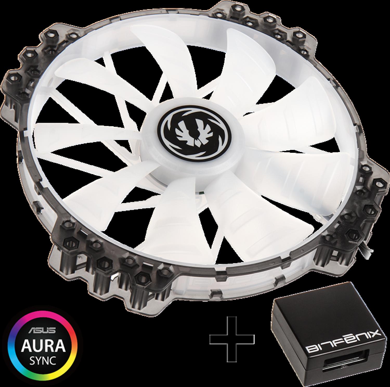 Ventoinha + Controlador BitFenix Spectre Pro RGB 200mm