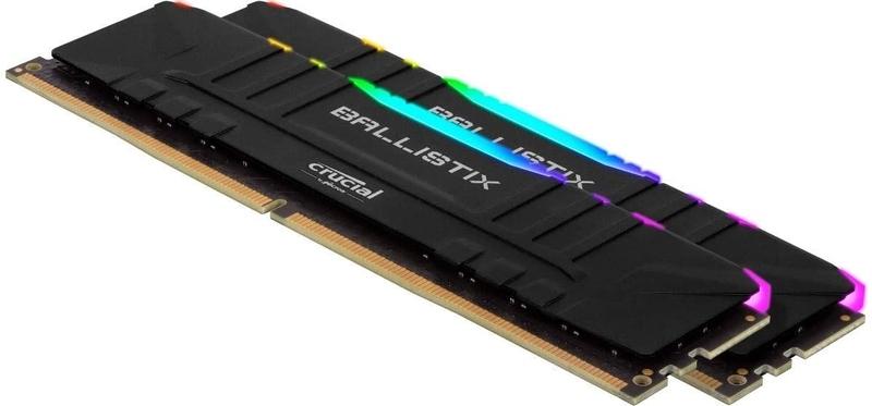 Crucial - Crucial Kit 16GB (2 x 8GB) DDR4 3200MHz Ballistix Black RGB CL16
