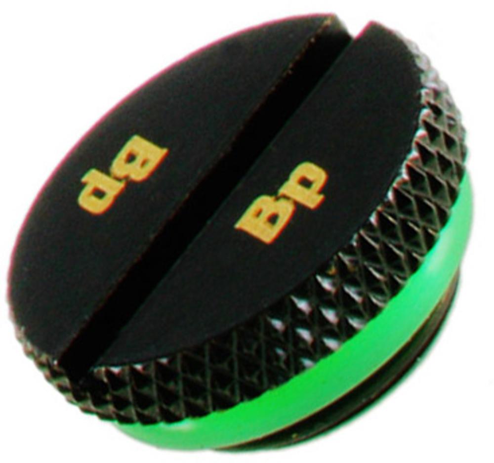 Bitspower - Tampa Bitspower G1/4 com fenda Preto Mate