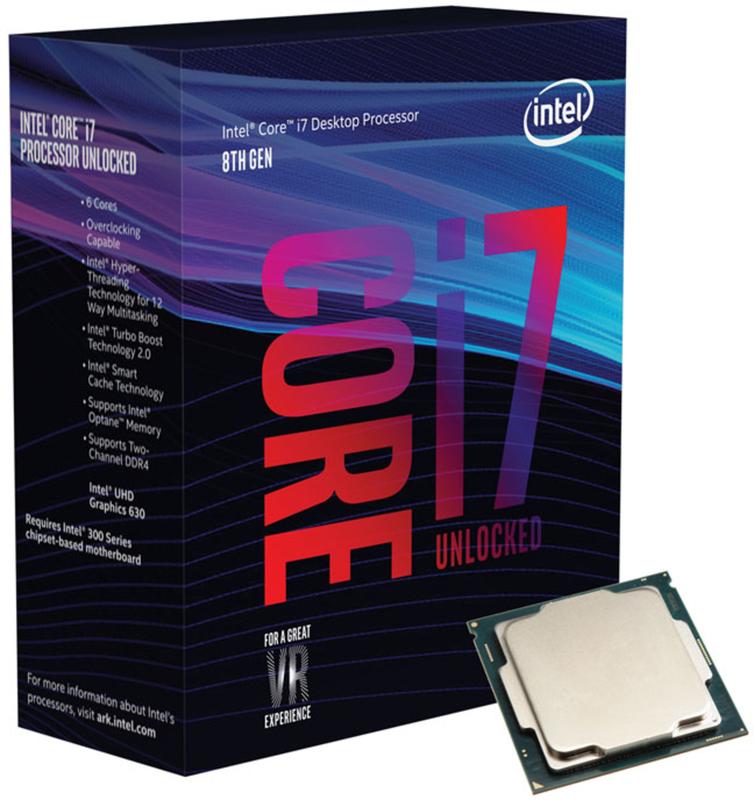 Intel - Processador Intel Core i7 8700K 6-Core (3.7GHz-4.7GHz) 12MB Skt1151