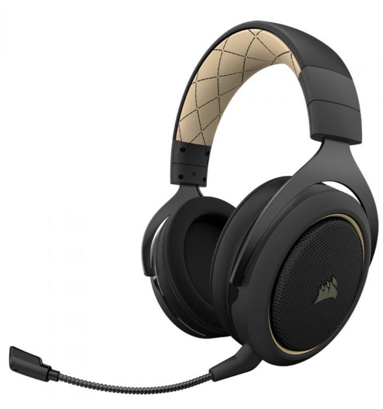 Auscultadores Corsair HS70 Pro Wireless 7.1 Crème