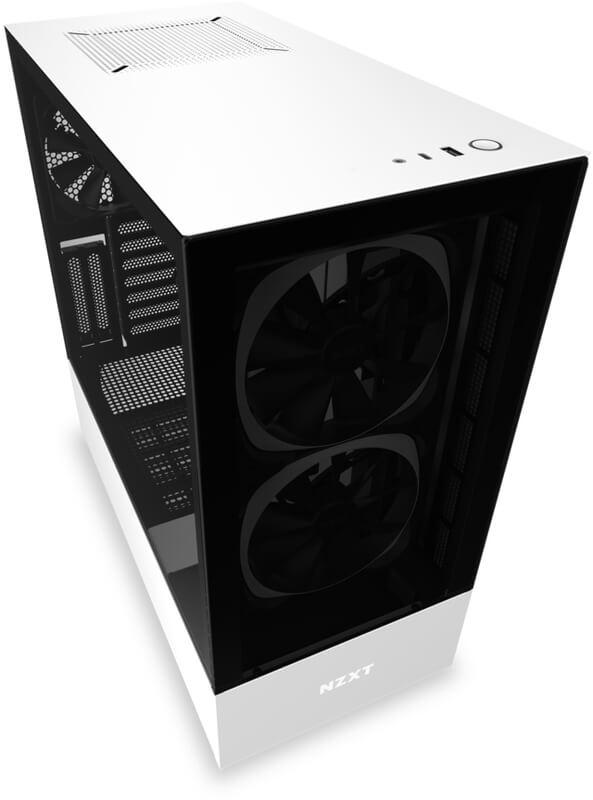 NZXT - Caixa ATX NZXT H510 Elite Branco Mate Vidro Temperado