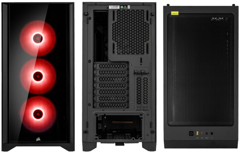 Corsair - Caixa E-ATX Corsair 4000X iCUE RGB Preto Vidro Temperado
