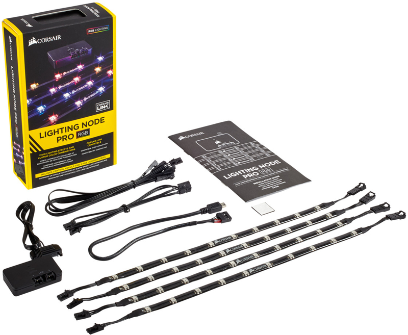 Corsair - Controlador Corsair Lightning Node Pro c/ 4 Fitas LED ARGB