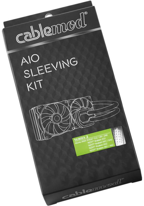 CableMod - Kit de Sleeving CableMod AIO Series 2 para NZXT Kraken / Corsair Hydro PRO Branco