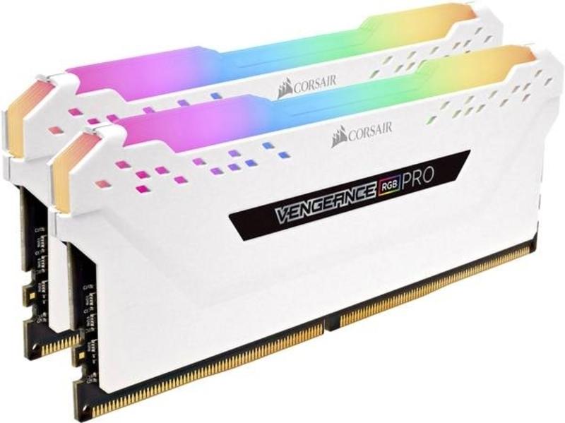 Corsair - Corsair Kit 16GB (2 x 8GB) DDR4 3200MHz Vengeance Pro RGB White CL16