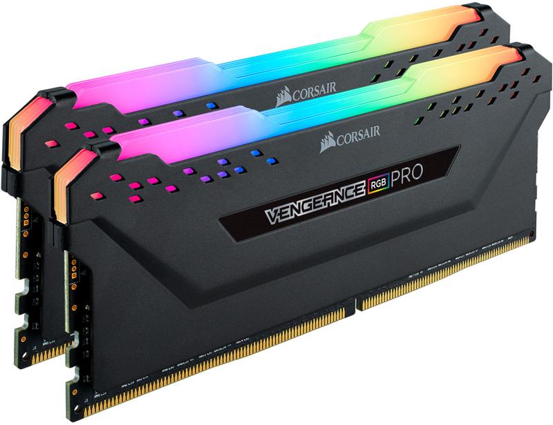 Corsair - Corsair Kit 16GB (2 x 8GB) DDR4 3600MHz Vengeance Pro RGB Black CL18