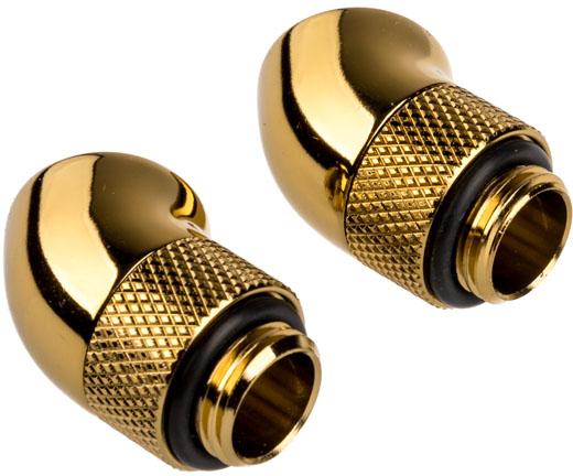 Conectores Corsair Hydro X Series 45º G1/4 Macho / Femea Pack 2 - Dourado