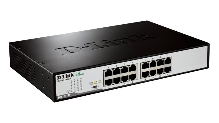 D-Link - Switch D-Link DGS-1016D 16 Portas Gigabit Unmanaged
