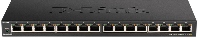 Switch D-Link DGS-1016S 16 Portas Slim Gigabit Unmanaged