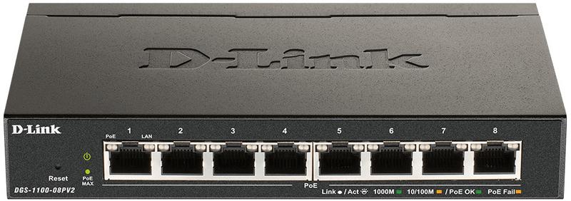 Switch D-Link DGS-1008P 8 Portas POE+ 68W Power Budget