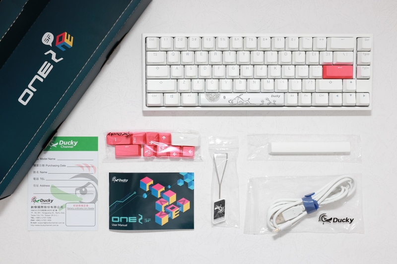 Ducky - Teclado Ducky ONE 2 SF 65% Pure White MX Silent Red RGB, ABS - Mecânico (PT)