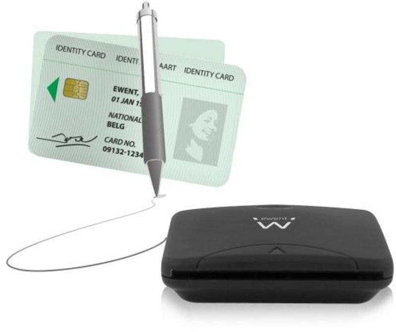 Ewent - Leitor de Cartões de Cidadão Ewent USB 2.0 Preto