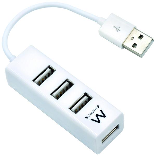 Hub USB Ewent 4 Portas USB 2.0 Branco