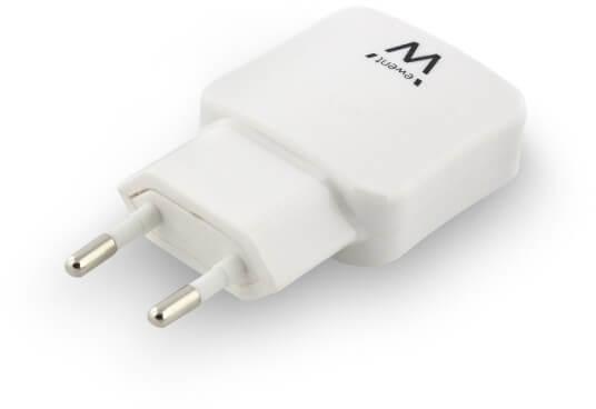 Ewent - Carregador Tomada Ewent 2 Portas USB 2.4A (12W) Branco
