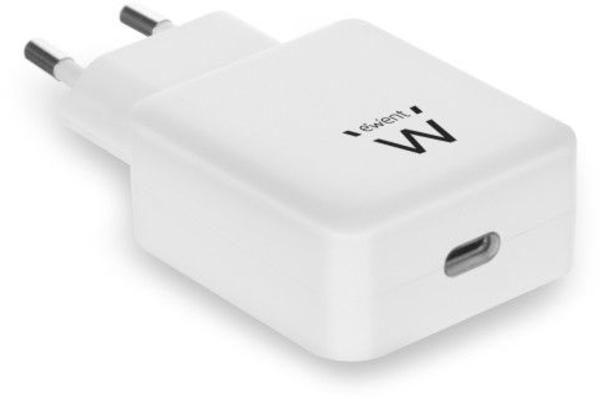 Carregador Tomada Ewent 1 Porta USB Type C 18W Branco