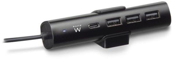 Carregador Tomada Ewent 1 Porta USB Type C c/ DP + 3 USB Type A 36W