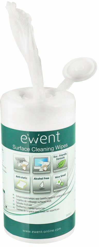 Ewent - Pack de Toalhetes Húmidos Ewent  para Limpeza (100 unidades)