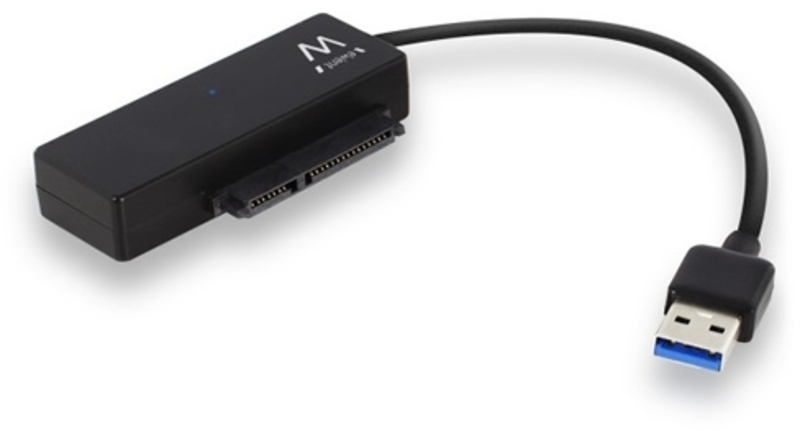 """Adaptador Ewent USB 3.1 Gen 1 Macho >  SATA 2.5""""/3.5"""" Macho c/ Alimentação Preto"""