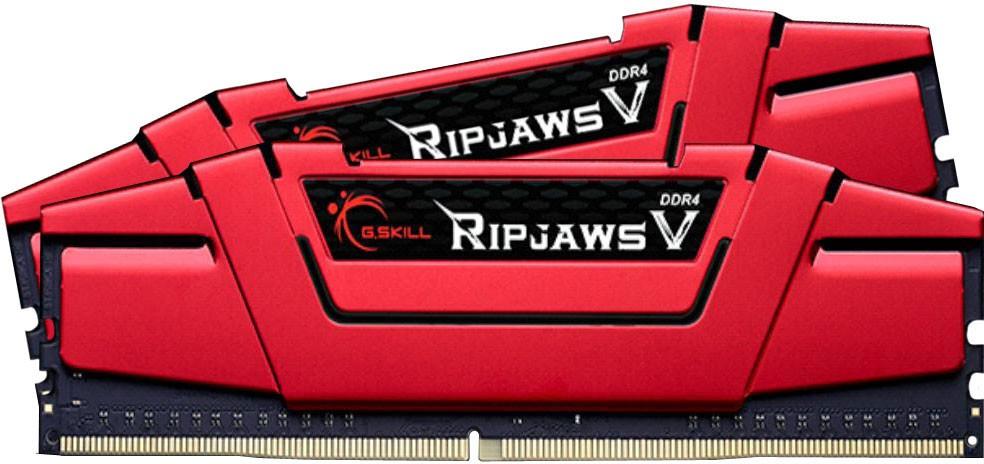 G.Skill Kit 8GB (2 x 4GB) DDR4 2666MHz Ripjaws V Red CL15