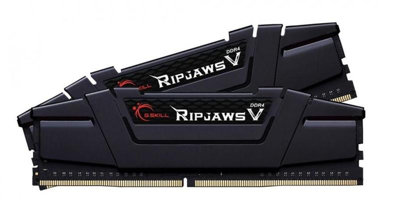 G.Skill - G.Skill Kit 32GB (2 x 16GB) DDR4 3200MHz Ripjaws V Black CL16