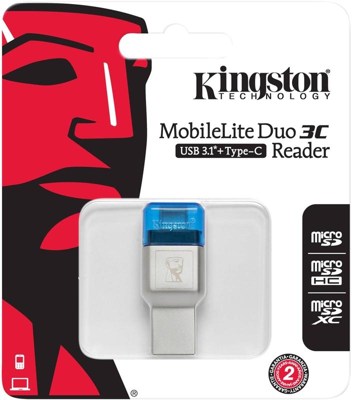 Kingston - Leitor de Cartões Kingston Mobile Lite Duo 3C