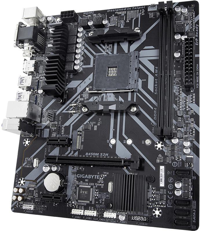 Gigabyte - Motherboard Gigabyte B450M-S2H