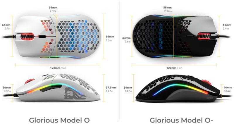 Glorious PC GR - Bundle Glorious PC Gaming Race Model O + Bungee + G-Skates Preto