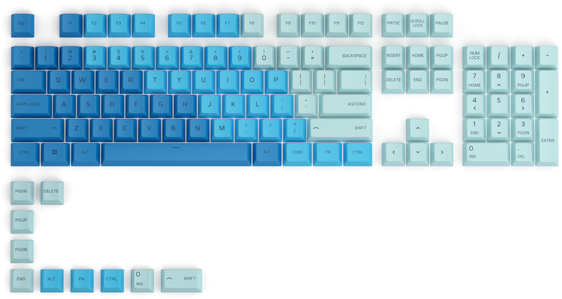 Glorious PC GR - Key Caps Glorious PBT Caribbean Ocean (US ANSI)