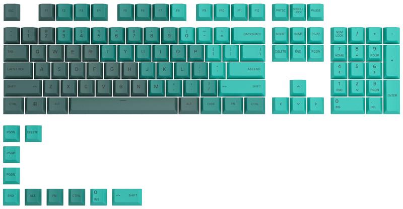 Glorious PC GR - Key Caps Glorious PBT Rain Forest (US ANSI)