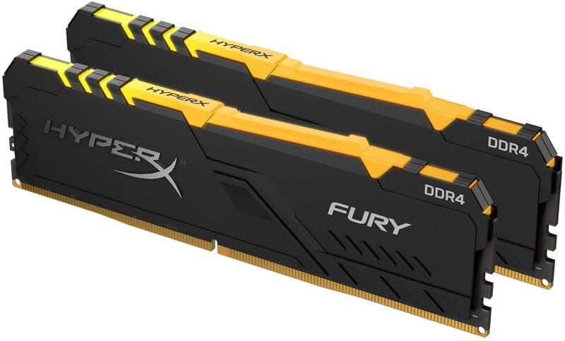 HyperX - HyperX Kit 16GB (2 x 8GB) DDR4 2400MHz Fury RGB CL15