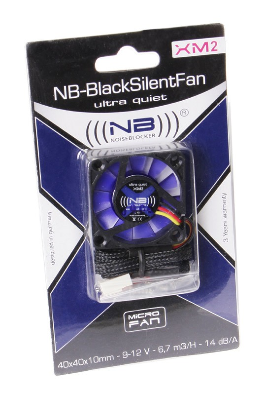 Noiseblocker - Ventoinha Noiseblocker BlackSilent XM-2 40mm
