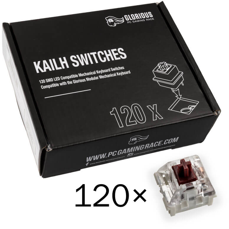 Pack 120 Switches Kailh Speed Copper para Glorious PC Gaming Race GMMK