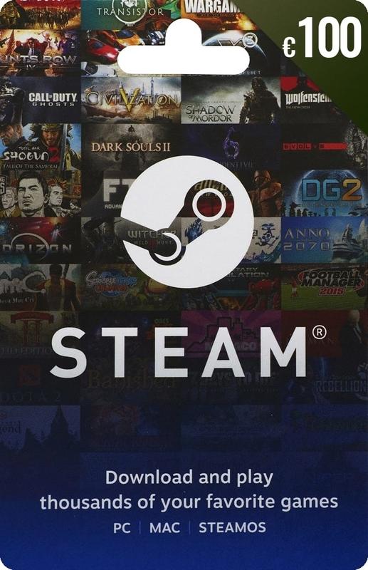 Gift Card Steam 100Eur