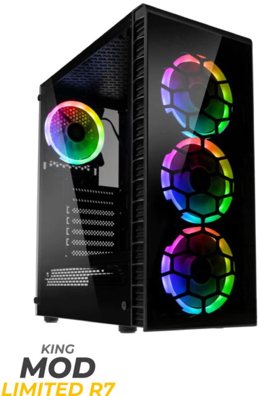 King Mod Systems - Computador King Mod Limited R7 3700X 16GB 512GB RTX 3070