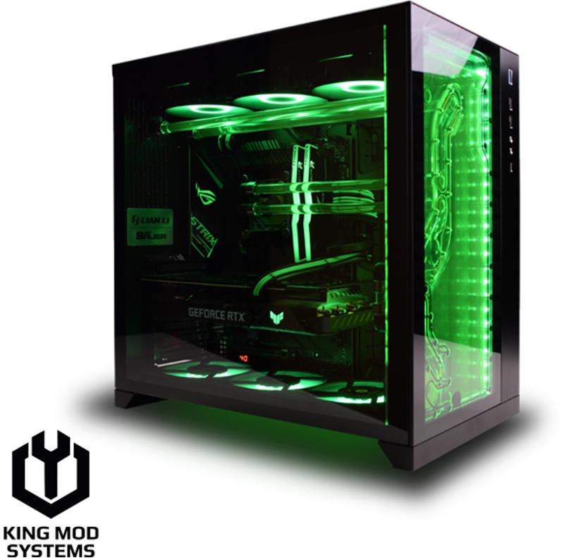 Computador King Mod Liquid EKWB Green Goblin i7 16GB 512GB RTX 3060 W10