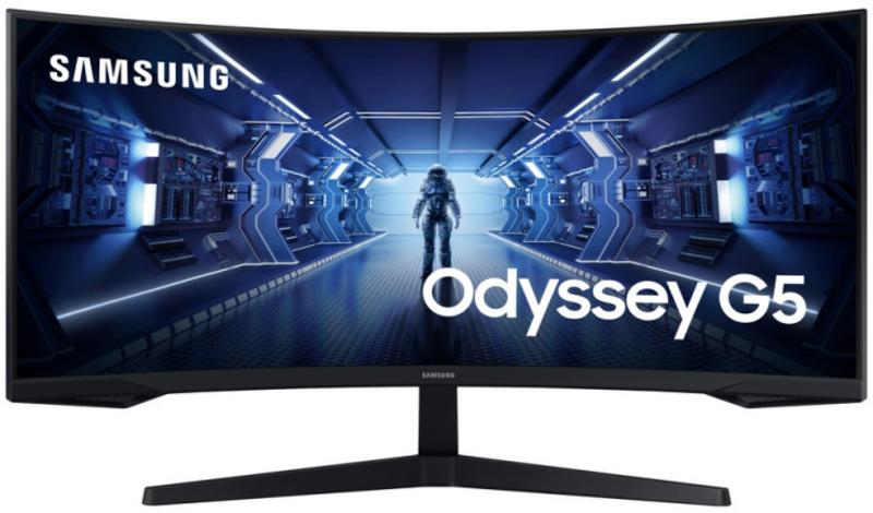 "Monitor Samsung 34"" Odyssey G5 G55T VA Curvo 165Hz 1ms"