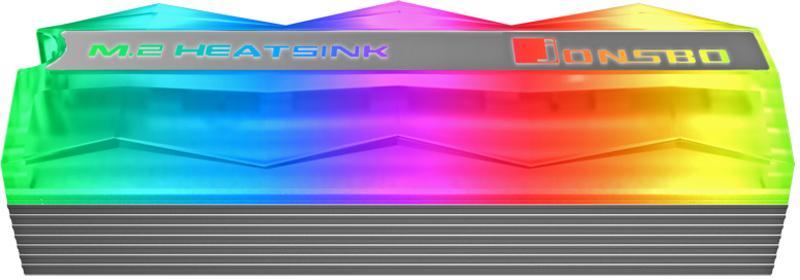Jonsbo - Cooler Jonsbo M. 2-2 M.2 SSD Cinzento ARGB