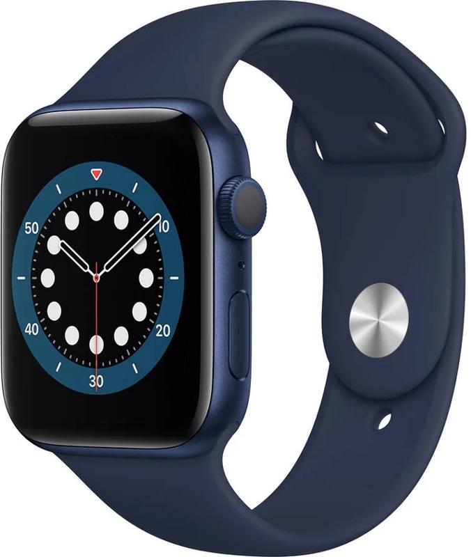 Apple - Smartwatch Apple Watch Series 6 GPS 44mm Alumínio Blue Sport Band Deep Navy