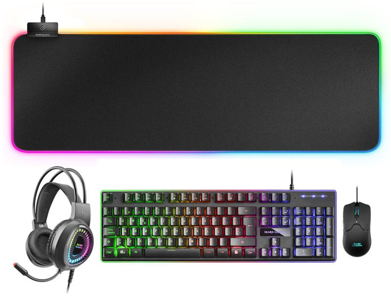 Teclado+Rato+Headset+Tapete XL Mars Gaming MCPEX (PT)